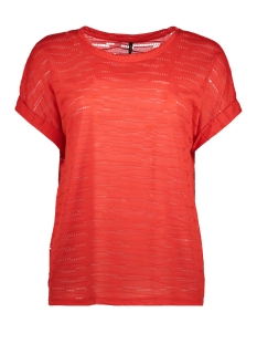 Only T-shirt onlHANNA S/S TOP JRS 15153437 Flame Scarlet