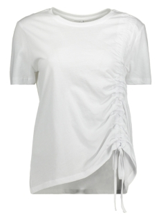 Only T-shirt onlMERLE S/S PULL STRING TOP JRS 15153448 Bright White