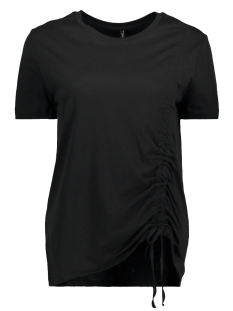 Only T-shirt onlMERLE S/S PULL STRING TOP JRS 15153448 Black