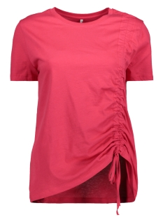 Only T-shirt onlMERLE S/S PULL STRING TOP JRS 15153448 Rose Red