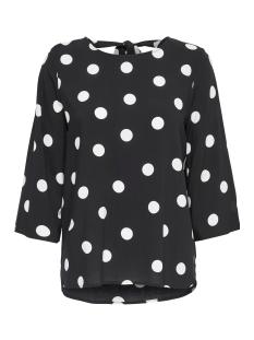 Jacqueline de Yong T-shirt JDYVICTORY 3/4 BOW BLOUSE WVN 15149705 Black/DOTS