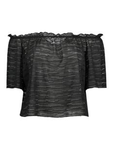 Only T-shirt onlHANNA 2/4 OFF SHOULDER TOP JRS 15153435 Black