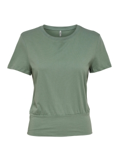 Only T-shirt onlMERLE S/S STRING TOP JRS 15153451 Chinois Green