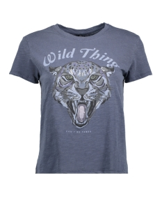 Only T-shirt onlNEW DIXIE S/S TIGER TOP JRS 15159071 Navy Blazer