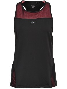 Only Play Sport top onpSOFI RUN SL TOP 15145635 Black/LIPSTICK P