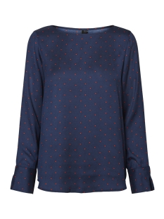 Vero Moda Blouse VMHENNA SATIN DOT L/S TOP FD17 10199934 Night Sky