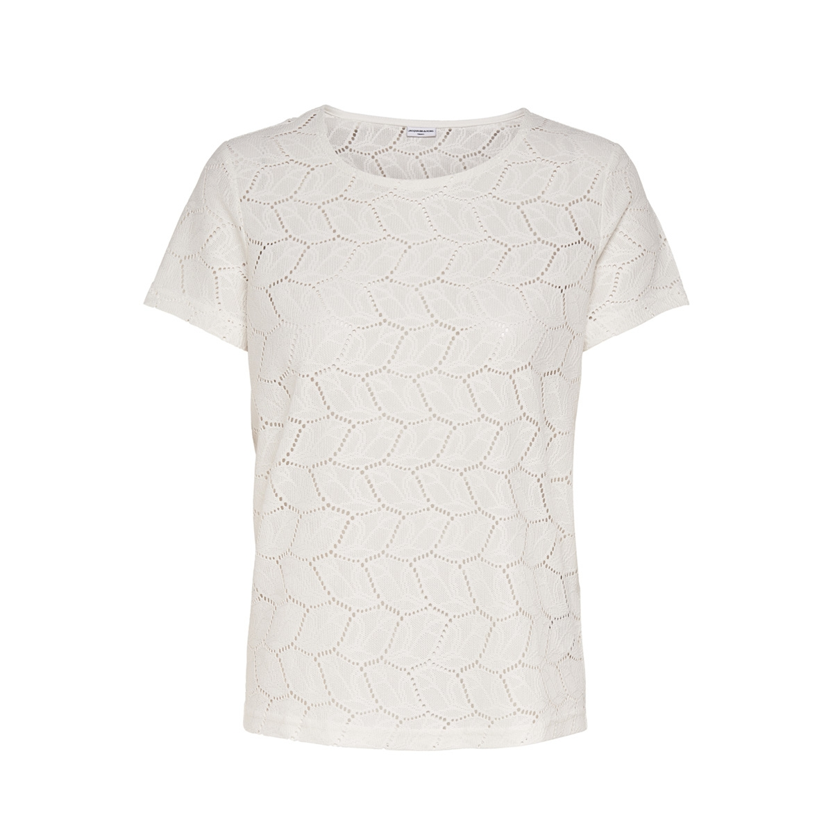 jdytag s/s lace top jrs rpt2 noos 15152331 jacqueline de yong t-shirt cloud dancer