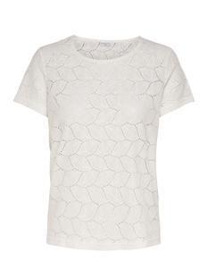 Jacqueline de Yong T-shirt JDYTAG S/S LACE TOP JRS RPT2 NOOS 15152331 Cloud Dancer