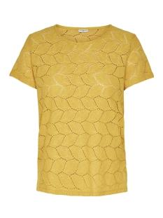 Jacqueline de Yong T-shirt JDYTAG S/S LACE TOP JRS RPT2 NOOS 15152331 Spicy Mustard