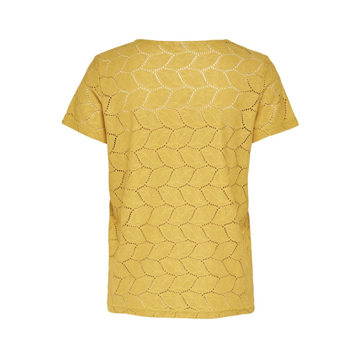 jdytag s/s lace top jrs rpt2 noos 15152331 jacqueline de yong t-shirt spicy mustard