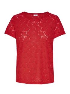 Jacqueline de Yong T-shirt JDYTAG S/S LACE TOP JRS RPT2 NOOS 15152331 Flame Scarlet