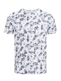 Jack & Jones T-shirt JPRRUSSEL TEE SS CREW NECK 12135541 White/Dark Navy