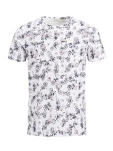 Jack & Jones T-shirt JPRRUSSEL TEE SS CREW NECK 12135541 White/Toadstool
