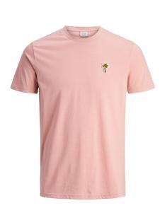 Jack & Jones T-shirt JORMIDNIGHTY TEE SS CREW NECK 12131826 Silver Pink