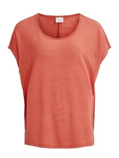 Vila T-shirt VISUMI S/S TOP - FAV 14045223 Spiced coral