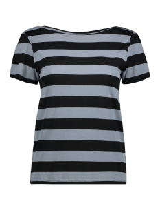 Jacqueline de Yong T-shirt JDYBUG S/S TOP JRS 15149510 Tradewinds/BLACK