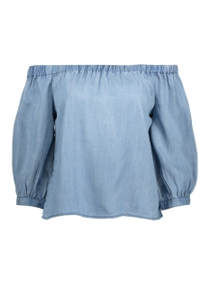 Only T-shirt onlJANICE OFF SHOULDER  DNM  TOP 15150145 Light Blue Denim