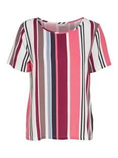 Jacqueline de Yong T-shirt JDYVICTORY  S/S TOP WVN 15150303 Cloud Dancer/Multi Color