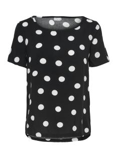Jacqueline de Yong T-shirt JDYVICTORY  S/S TOP WVN 15150303 Black / Cloud Dancer