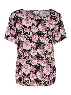 Jacqueline de Yong T-shirt JDYVICTORY  S/S TOP WVN 15150303 Black/PINK FLOWE