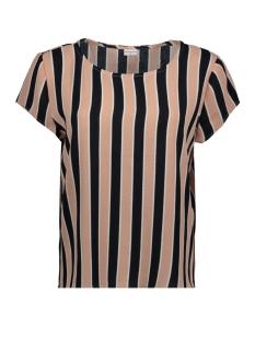 Jacqueline de Yong T-shirt JDYSOFI S/S TOP WVN EXP 15160038 Peach Beige