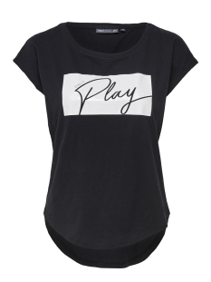 Only Play Sport shirt onpGAME CURVED SS TEE 15149009 Black/W.WHITE