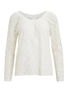 Vila T-shirt VIADDISON LS TOP 14046411 Cloud dancer
