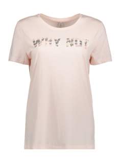 Vero Moda T-shirt onlLAYLA S/S WHY/CAMO TOP BOX JRS 15156787 Ballet Slipper/WHY