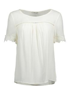 Only T-shirt onlHOLLY 2/4 TOP WVN 15155826 Cloud Dancer