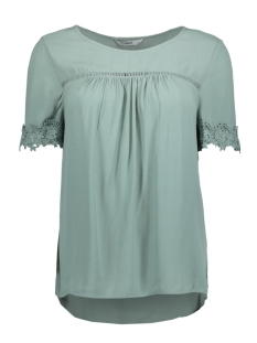 Only T-shirt onlHOLLY 2/4 TOP WVN 15155826 Chinois Green
