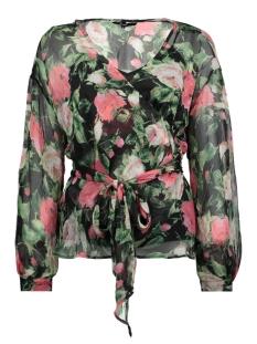Vero Moda Blouse VMLILI CHIF WRAP TOP D2-3 10197291 Black/Lili Print