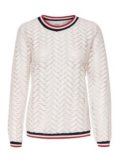 Jacqueline de Yong T-shirt JDYTAGGI L/S LACE TOP JRS EXP 15163193 Cloud Dancer