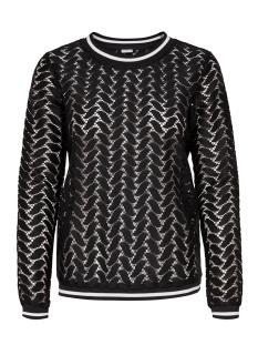 Jacqueline de Yong T-shirt JDYTAGGI L/S LACE TOP JRS EXP 15163193 Black