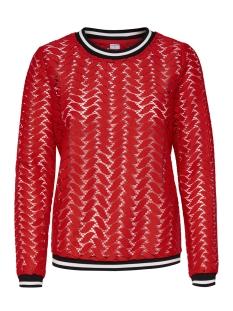Jacqueline de Yong T-shirt JDYTAGGI L/S LACE TOP JRS EXP 15163193 High Risk Red
