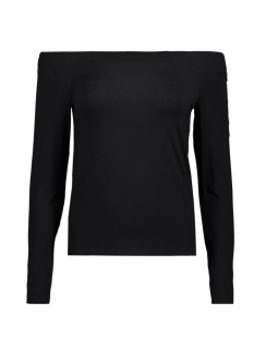 Only T-shirt onlKATHY L/S OFF SHOULDER TOP JRS 15153439 Black