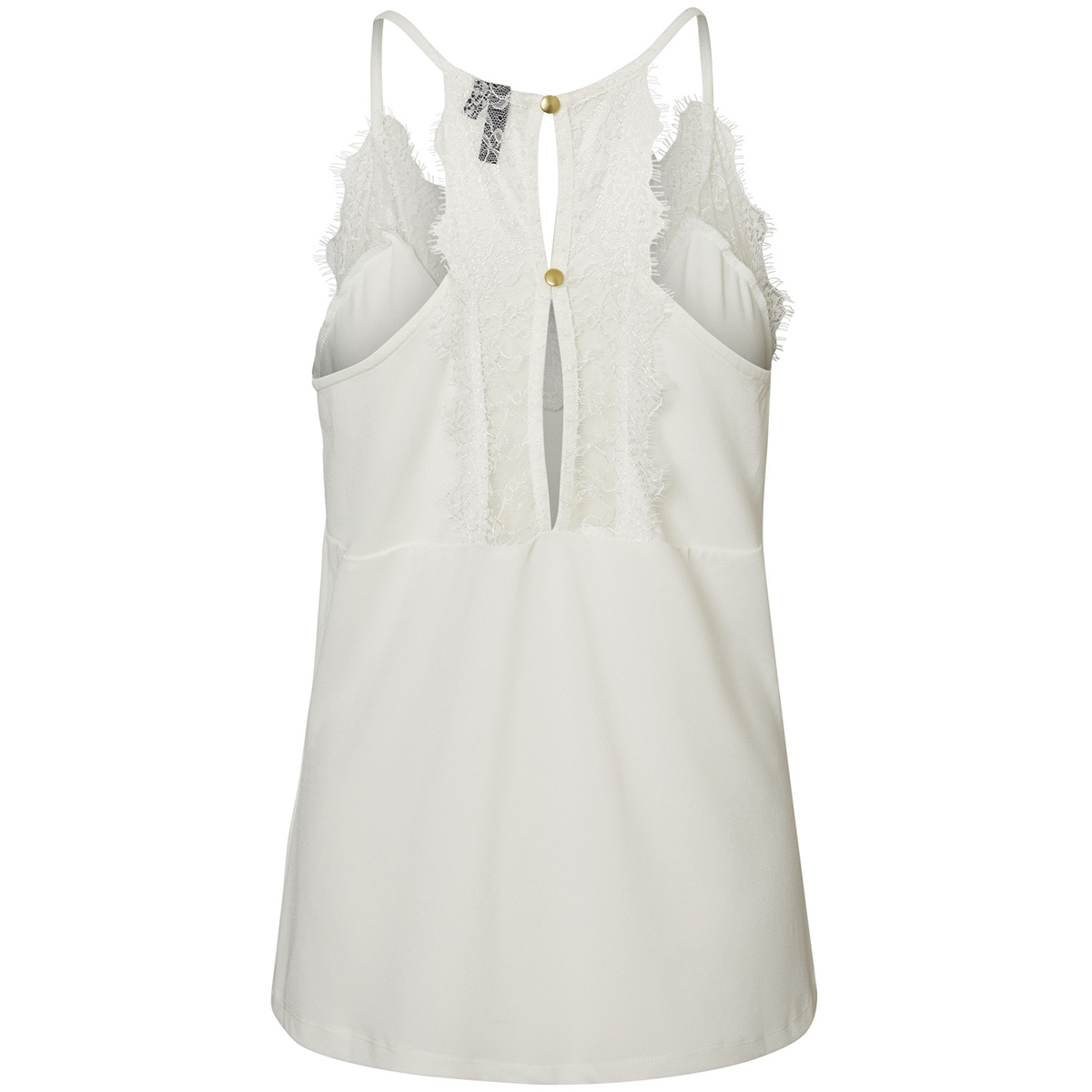 vmmilla s/l lace top noos 10185863 vero moda top snow white
