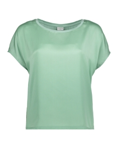 Jacqueline de Yong T-shirt JDYCHARLOT S/S TOP WVN 15152369 Granite Green