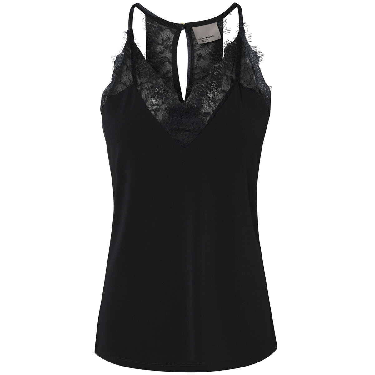 vmmilla s/l lace top noos 10185863 vero moda top black