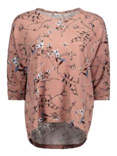 Jacqueline de Yong T-shirt JDYWINNER 3/4 AOP TOP JRS EXP NOOS 15160186 Burlwood/FLOWER
