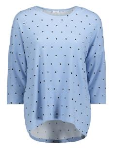 Jacqueline de Yong T-shirt JDYWINNER 3/4 AOP TOP JRS EXP NOOS 15160186 Cashmere Blue/DOTS