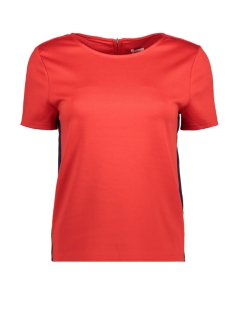 Only T-shirt onlBRILLIANT SS TOP BOX JRS 15156905 Flame Scarlet/PANEL IN N