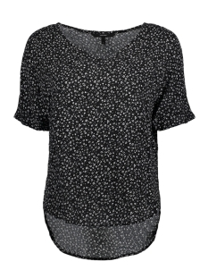 Vero Moda T-shirt VMSIMPLY EASY VISC SS TOP 10194033 Black / Liliana Bl