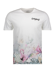Jack & Jones T-shirt JORHAPPYFADE TEE SS CREW NECK 12139229 Cloud Dancer