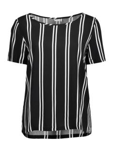 Jacqueline de Yong T-shirt JDYVICTORY  S/S TOP WVN  15150303 Black/CLOUD DANC