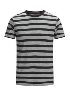 Jack & Jones T-shirt JJESTRIPE TEE SS CREW NECK STS 12136760 Black/Slim Fit