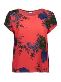 Jacqueline de Yong T-shirt JDYSOFI S/S TOP WVN EXP 15160038 High Risk Red / Flower