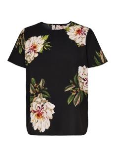 Only Blouse onlJULIE S/S FIRST TOP WVN 15144508 Black / Flower Pri