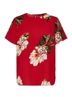 Only Blouse onlJULIE S/S FIRST TOP WVN 15144508 Flame Scarlet / Flower Pri