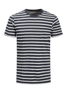 Jack & Jones T-shirt JJESTRIPE TEE SS CREW NECK STS 12136760 Navy Blazer