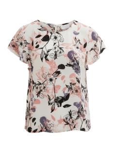 Vila T-shirt VILUCY S/S FLOUNCE TOP - FAV 14045856 Cloud Dancer / Vimalik Pr